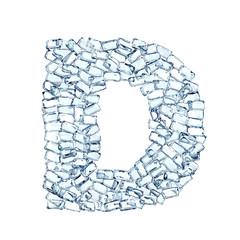 D lettera diamanti cristalli gemme 3d, sfondo bianco