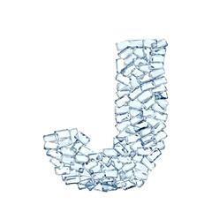 J lettera diamanti cristalli gemme 3d, sfondo bianco