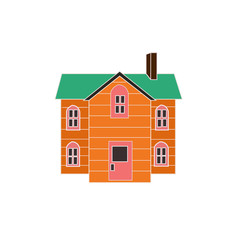 Cute cartoon home (vector version)