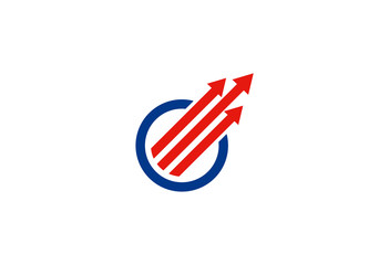 line arrow circle logo
