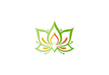 lotus flower decoration vector logo