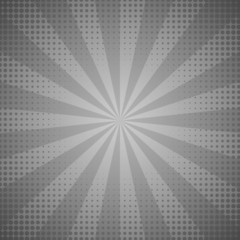 Sunburst abstract grey background