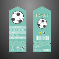 Ticket Design Template. Concept of football