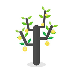tree idea concept. vector illustration