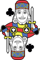 Stylized King of Clubs no card