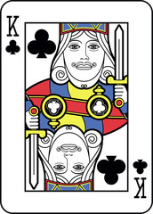 Stylized King of Clubs
