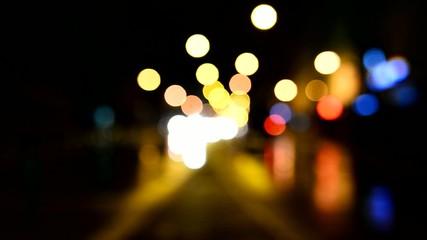 şehir trafiği ve bokeh etkisi