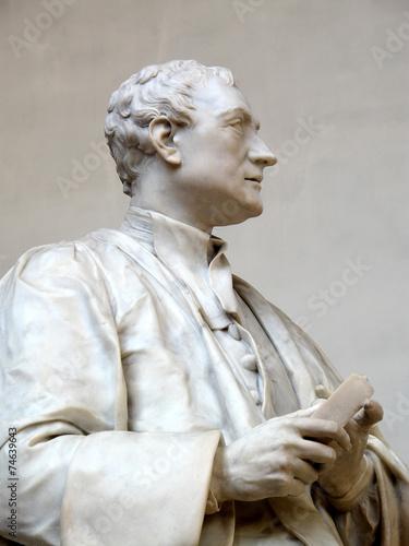 Spoed canvasdoek 2cm dik Standbeeld Isaac Newton