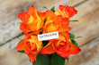 Gracias (thank you in Spanish) card with orange roses