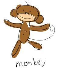 Детская рисунок обезьяны