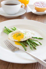 Breakfast with Asparagus and Egg