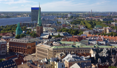 Above View of Riga