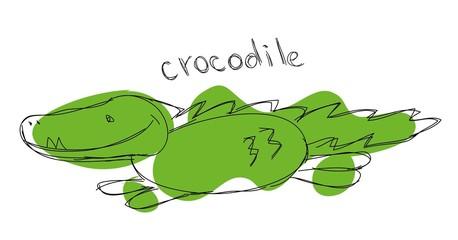 Детская рисунок крокодила