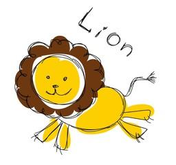 Детская рисунок льва