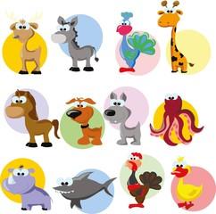 Набор милый мультфильм животных
