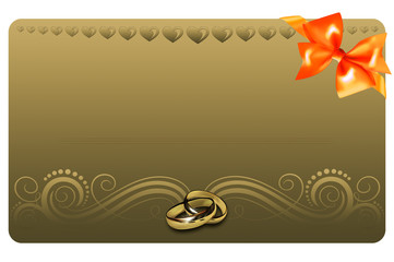 Gold gift or wedding card.