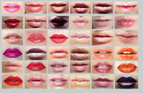 Lipstick. Great Variety of Women's Lips. Set of Colorful Mouths