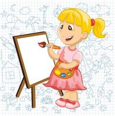 Мультфильм рисунок девушки