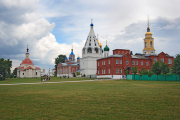 the ensemble of the Cathedral square in Kolomna Kremlin