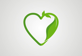 Love ecology logo vector
