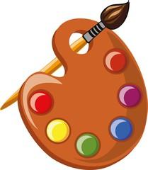 Мультфильм школьный поддон с красками