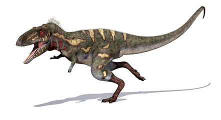 Nanotyrannus Dinosaur on the Run