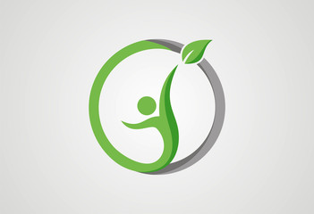 Sucsess people in healthy life logo vector