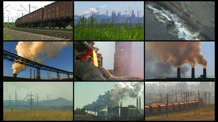 Heavy industry montage