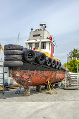 Boat on a Boatyard for Maintenance