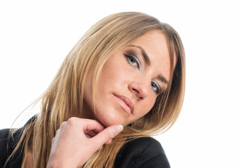 Frau mit verführerischem Blick