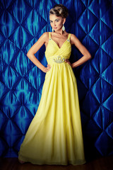 long yellow dress