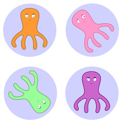 Octopuses in circles
