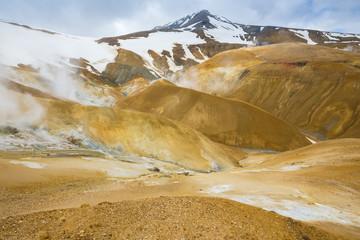 Hveradalir, hot spring valley in Kerlingarfjoll area, Iceland