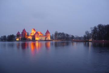 Trakai Castle at night