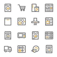 Kitchen Appliances Web Icons
