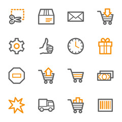Shopping cart web icons