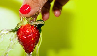 Washing Strawberry