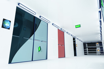 Super Modern Building Corridor 3D artwork