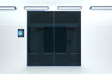 Super Modern Building Corridor Elevator 3D artwork