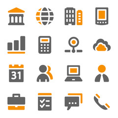 Business web icons set