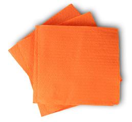 Some Blank Orange Paper Serviettes