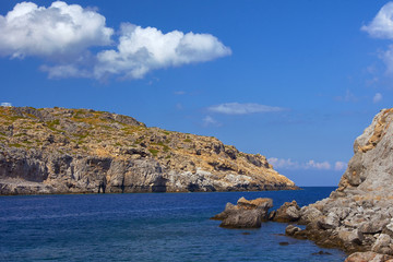 rocky cliff at the edge of the Mediterranean Sea