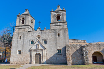 Historic Mission Concepcion in San Antonio, Texas