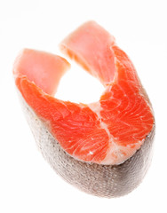 raw steak of salmon