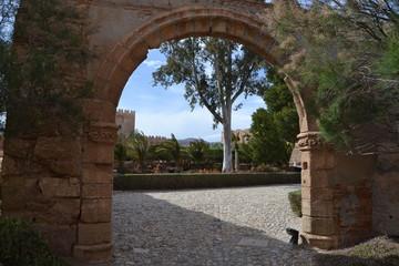 Gate inside of Almeria castle
