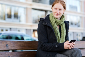 City Woman with a Smartphone