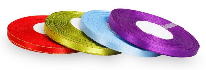 Bright spools satin ribbons