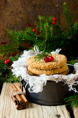 Christmas cookies with sesame seeds