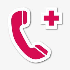 Logo téléphone de secours.