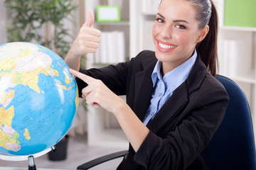 Charming Stewardess or business woman ,traveling or tourism conc